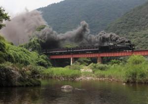 山口線長門峡~渡川 SLやまぐち号