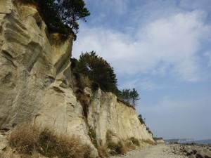 絶壁の海岸