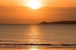 宮地浜の夕陽