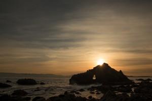 玄界灘の朝景