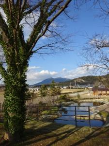 城跡から筑波山を望む