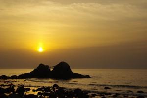 二見ヶ浦の夕陽 (3)