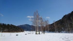 冬の糠平湖e