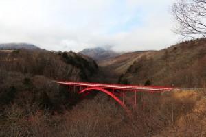 東沢大橋「赤い橋」